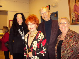 Meche Kroop, Barbara & David Bender with President Jane Shaulis. Photo by Judy Pantano.