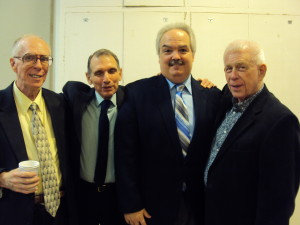 William Goodhue, Treasurer Murray Rosenthal, Bill Ronayne & Vice President Philip Hagemann. Photo by Judy Pantano