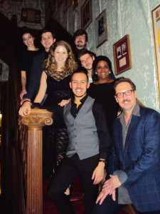 Left - Ben Chavez, Monet Sabel, Matthew Stoke & Jenisa de Castro Right - Robert Krakovski, Michele Ivey, Austin Davidson & Mark T Evans Photo by Judy Pantano