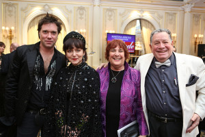 Composer/Singer Rufus Wainwright with fashion designer Joanna Mastroianni, Judy & Nino Pantano. Photo by Jen Joyce Davis