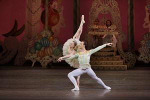 Maria Kowroski as the Sugarplum Fairy and Tyler Angle as her Cavalier in George Balanchine's The Nutcracker. Photo credit: Paul Kolnik