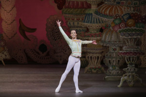 Tyler Angle as the Cavalier in George Balanchine's The Nutcracker. Photo credit: Paul Kolnik