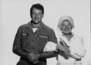 "Lillian Ross and Robin Williams, shortly after the release of ""Good Morning, Vietnam"" in 1987. Credit: Arthur Grace"