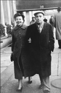 Lillian Ross and Wallace Shawn on the streets of New York in the 1960s. Courtesy of Lillian Ross