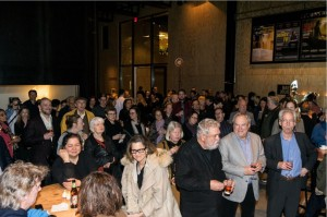 A large crowd enjoyed the after party at St. Ann's Warehouse. Photo by Rob Abruzzese