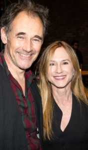 Mark Rylance greets Holly Hunter. Photo by Rob Abruzzese
