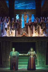 Michelle Johnson, Jonathan Burton, and Leann Sandel Pantaleo in the final scene from Verdis' Aida Photo by Rod Millington