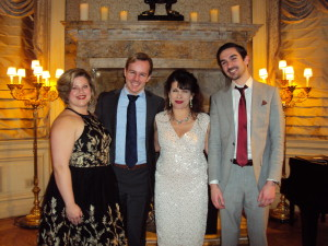 Soprano Amber Daniel, Tenor Alasdair Kent, Pianist Mary Pinto & Baritone Matthew Ciuffitelli Photo by Judy Pantano