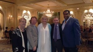 Jane Shaulis, Michael Fennelly Broadway actress Christine Ebersole, Murray Rosenthal & Basso Eric Owens Photo by Judy Pantano