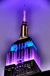 The Empire State Building from the Church Courtyard Photo by Marcello Pantano