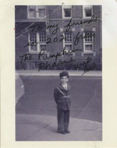 Elliott Gould in the mid-1940s, in front of 6801 Bay Parkway. Photo courtesy of Elliott Gould