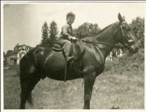 Elliott Gould on horse in mid-1940s. Photo courtesy of Elliott Gould