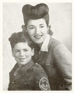 Elliott Gould pictured with his mother, Lucy, in the mid-1940s. Photo courtesy of Elliott Gould