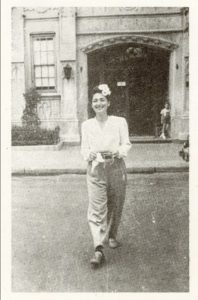 A photograph of Elliott Gould's mother Lucy Gould, circa mid-1940s, from a memorial card following her death in 1998. Photo courtesy of Elliott Gould