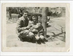 Elliott Gould with his mother and father in the mid-1940s. Photo courtesy of Elliott Gould