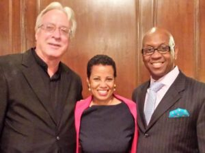 Maestro Jan Wnek, Coloratura Soprano Harolyn Blackwell, with Tenor Keith Johnson, Photo by Judy Pantano