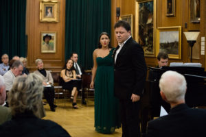 Soprano Mikaela Bennett & tenor Stephane Senechal from L'Art du Chant Francais. Photo by Ashley Chui from Jullitan Productions