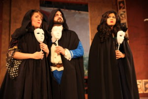 The 3 Maskers - Donna Anna ( Christina Rohm, left) Don Ottavio (Christopher Nelson, center) Donna Elvia (Zhanna Alkhazova, right) Photo by Sabrina Palladino Photo by Sabrina Palladino